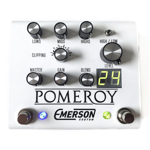Emerson Custom Pomeroy Boost & Overdrive Pedal - White
