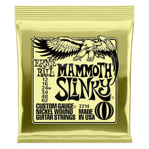 Ernie Ball 12-62 Mammoth Slinky Nickel Wound Electric Guitar Strings Wound G