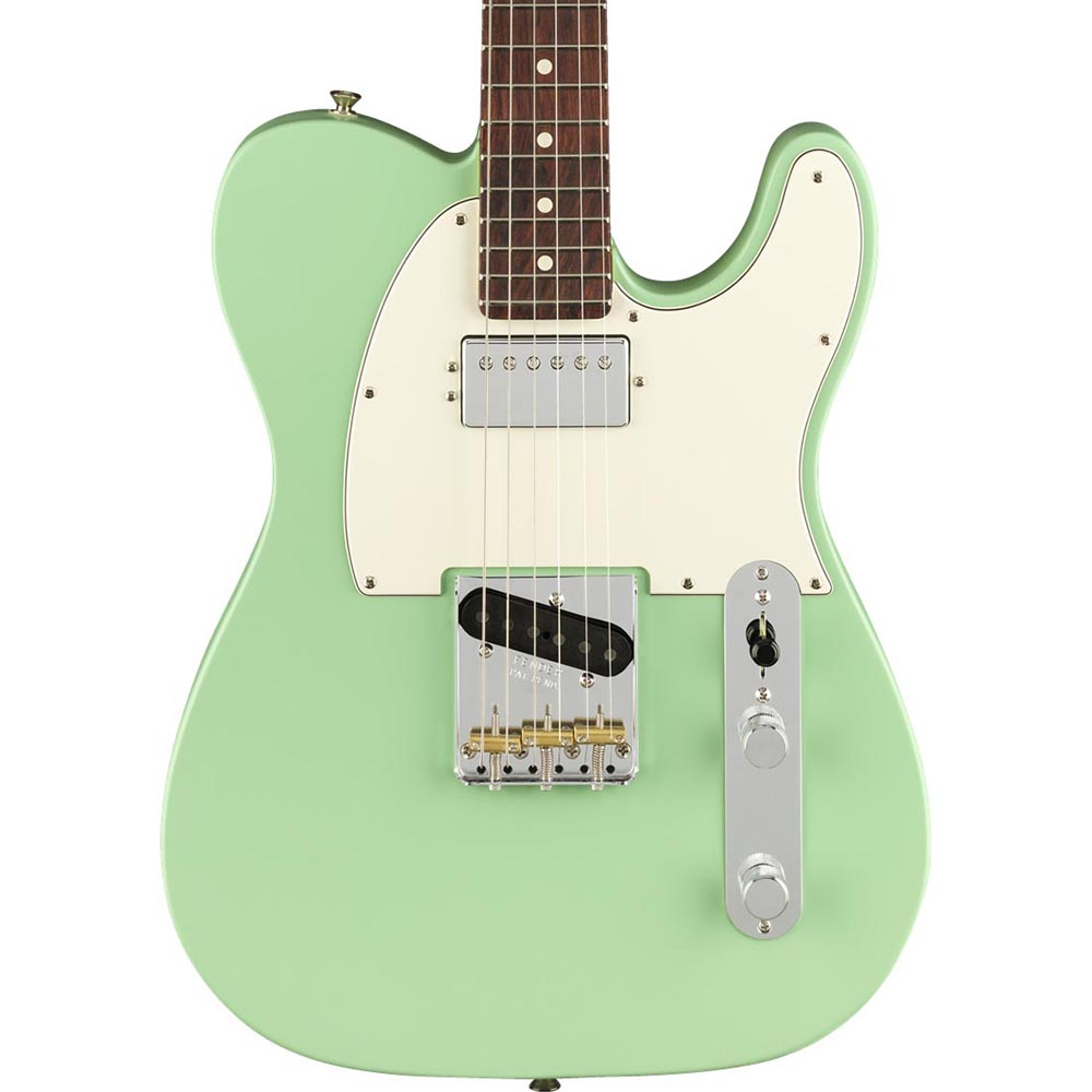 Fender American Performer Telecaster Hum Rosewood Satin Surf Sound Synthesizer Green