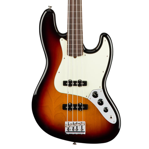 Fender American Professional Jazz Bass Fretless - 3-Color Sunburst - Rosewood
