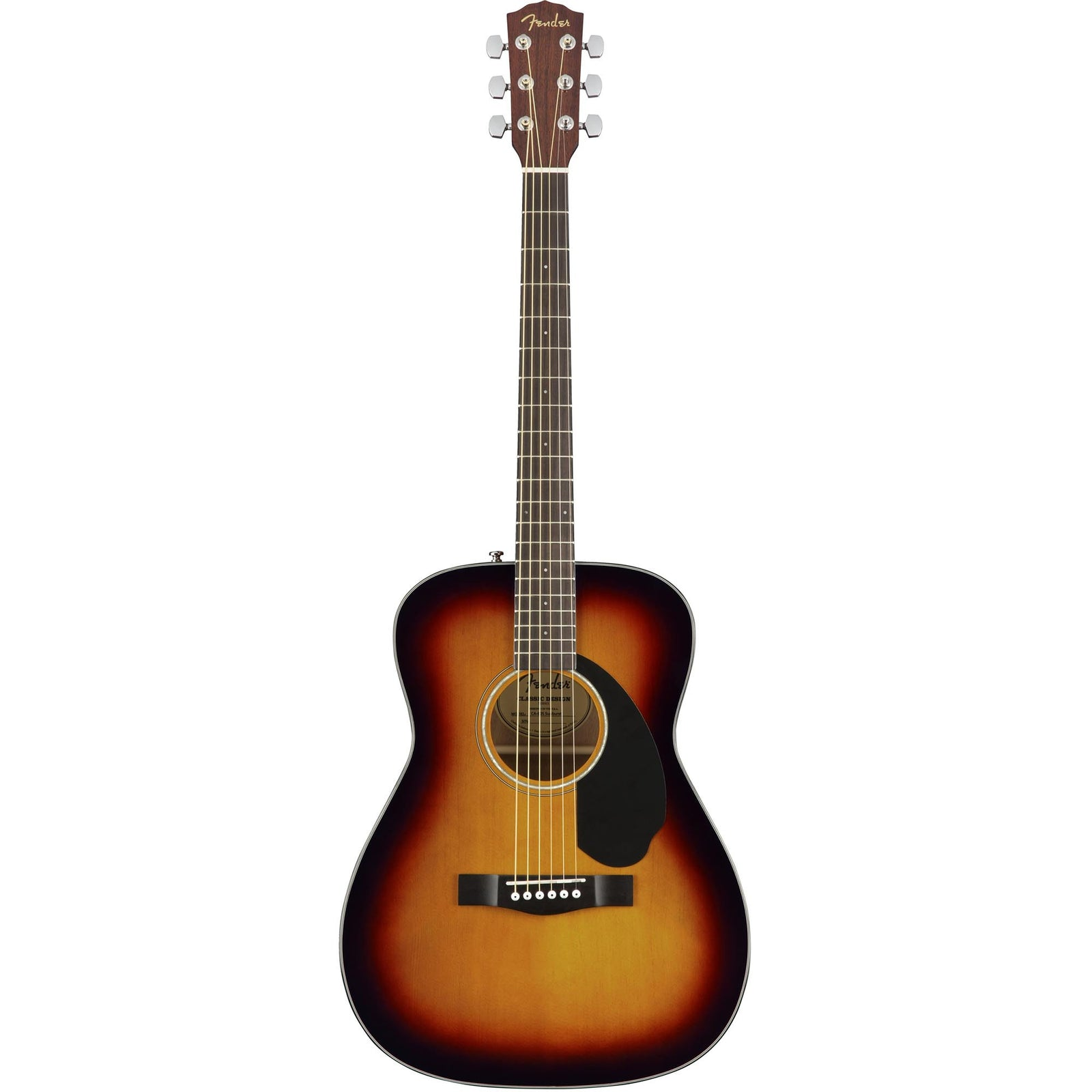 Fender CC-60S Acoustic Guitar - 3-Tone Sunburst