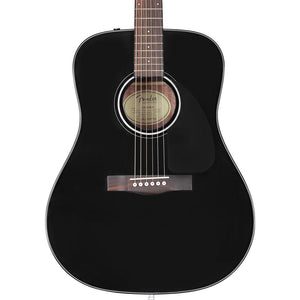 Fender CD-60 Dreadnought V3 With Case Walnut Fingerboard, Black