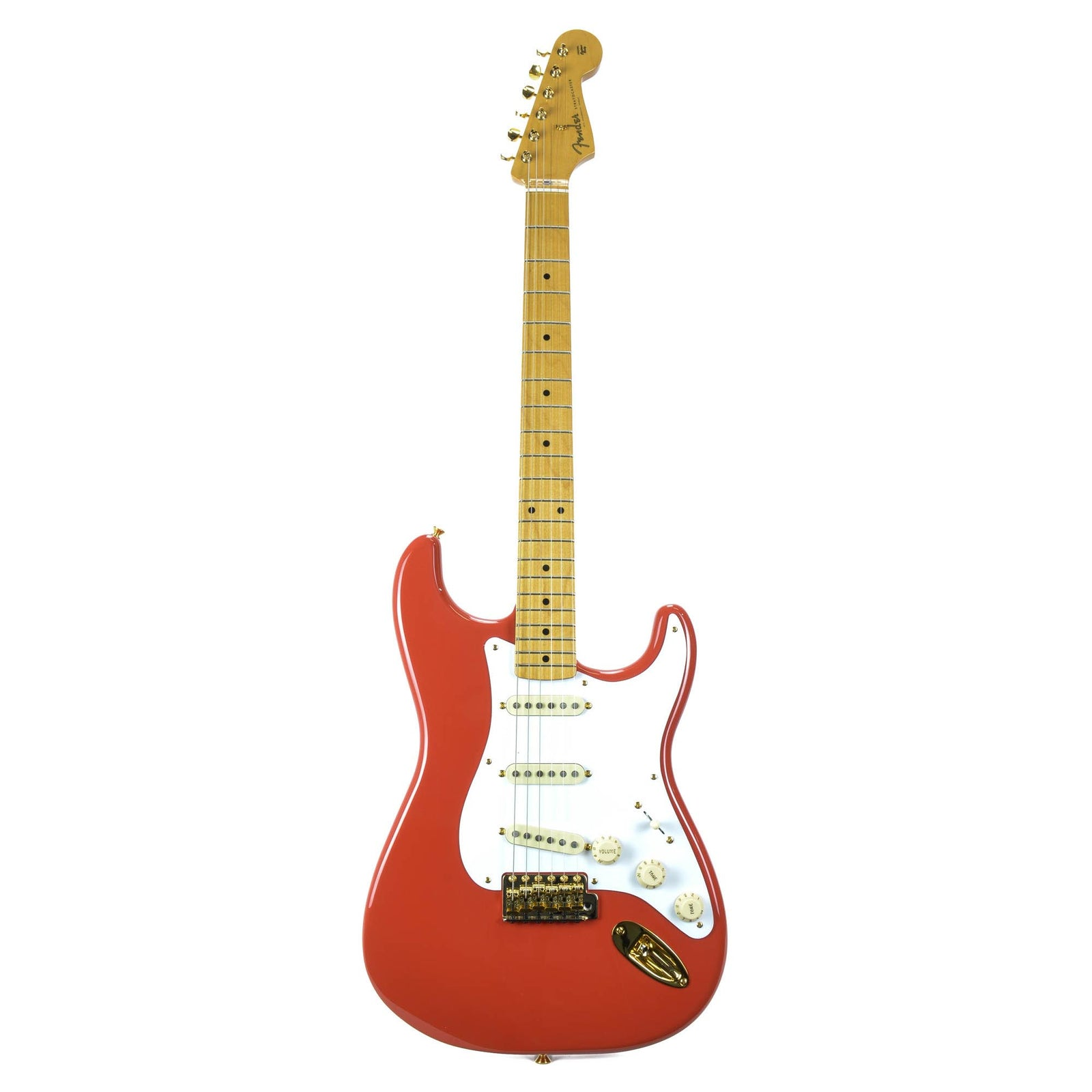 Fender FSR Limited Edition 50S Stratocaster - Fiesta Red - Gold Hardware
