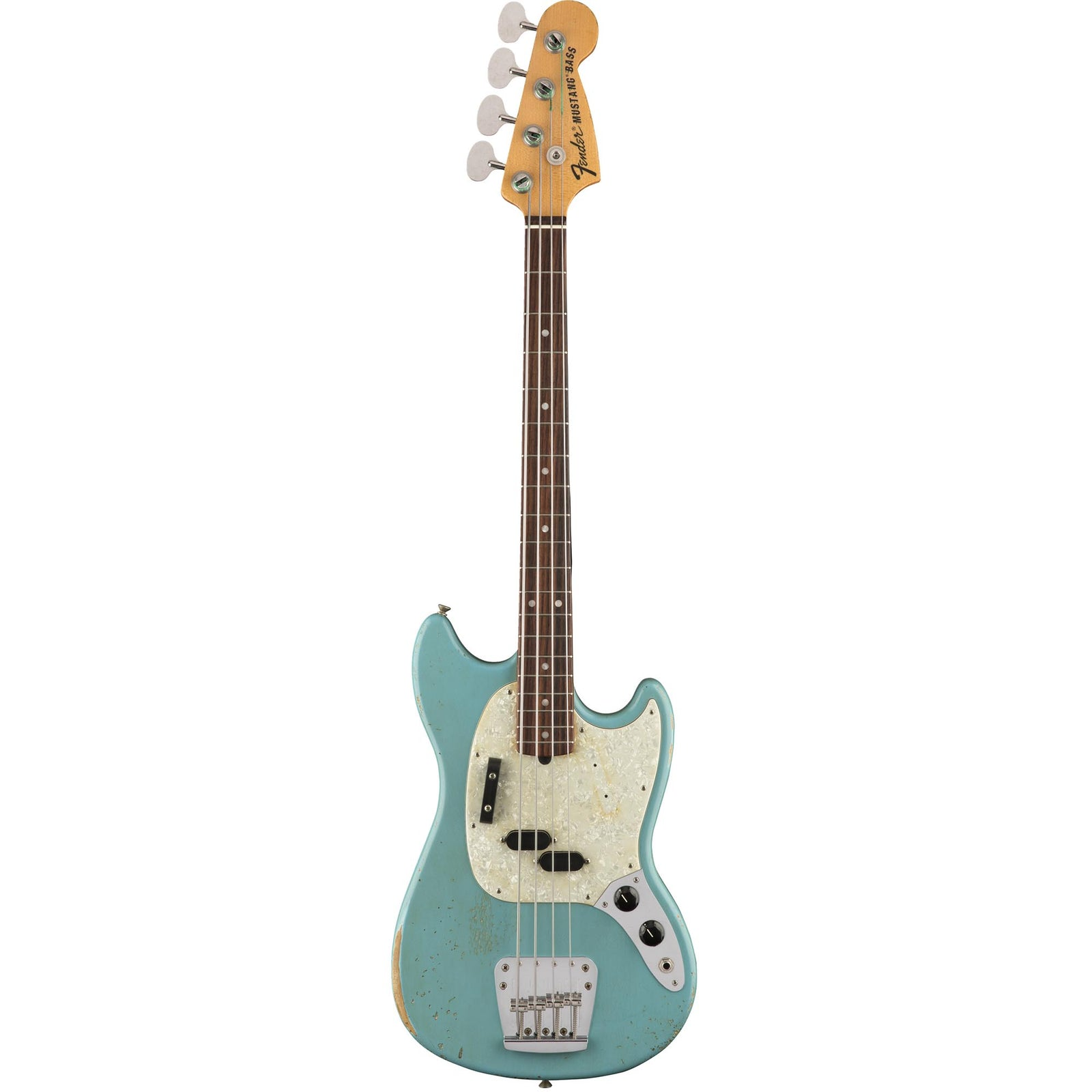 Fender JMJ Mustang Bass - Rosewood Fingerboard - Faded Daphne Blue