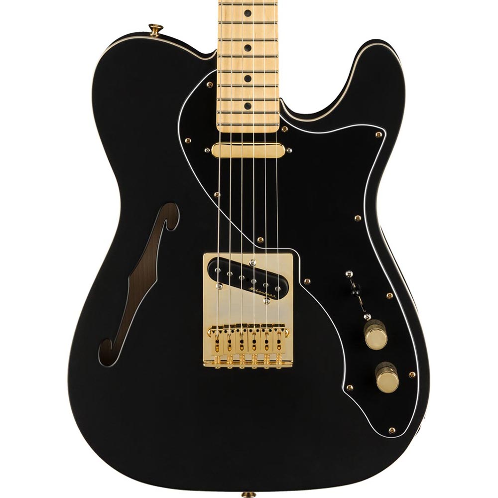 Fender Limited Deluxe Telecaster Thinline Maple, Gold Hardware, Satin Black