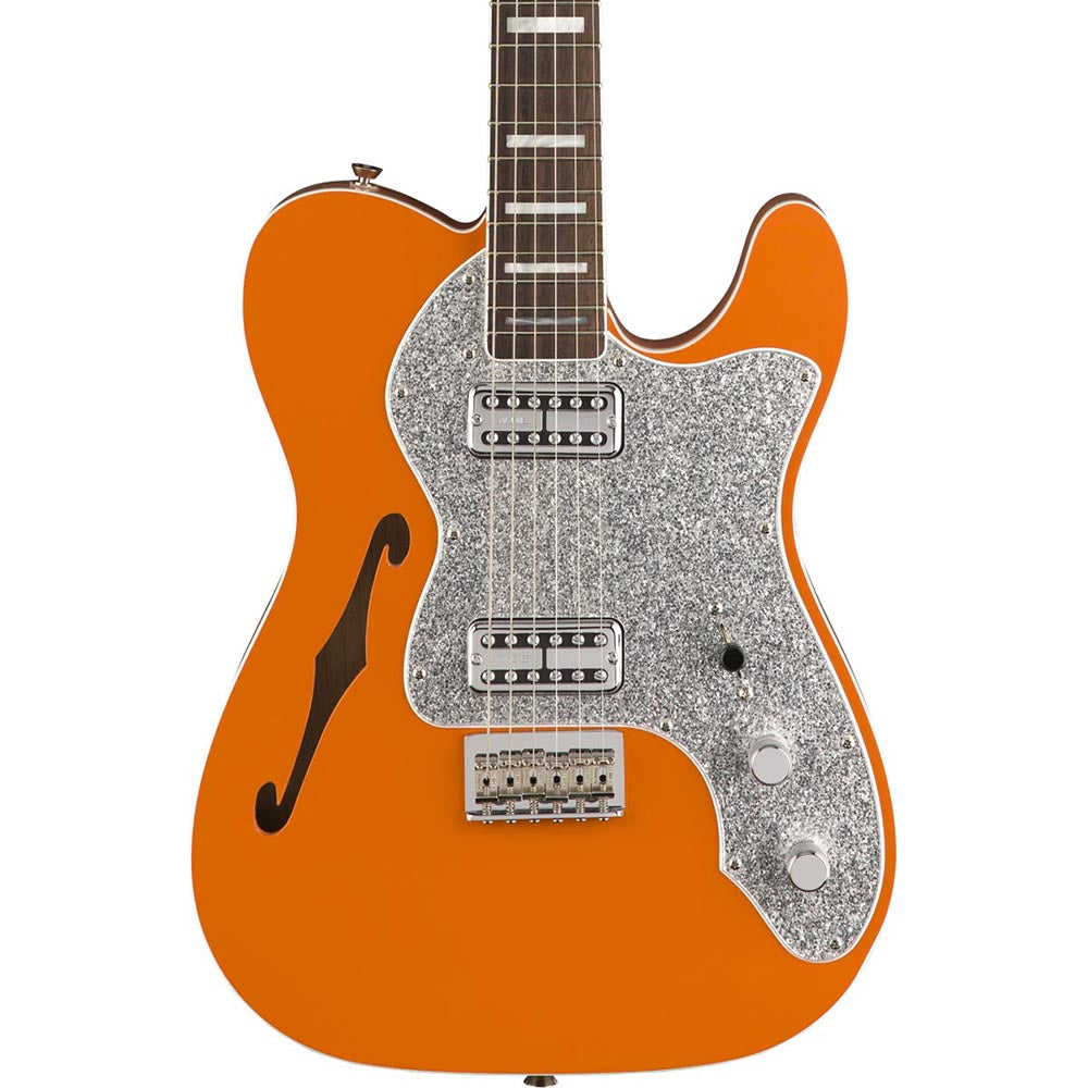 Fender Limited Edition Telecaster Thinline Super Deluxe - Rosewood - Orange