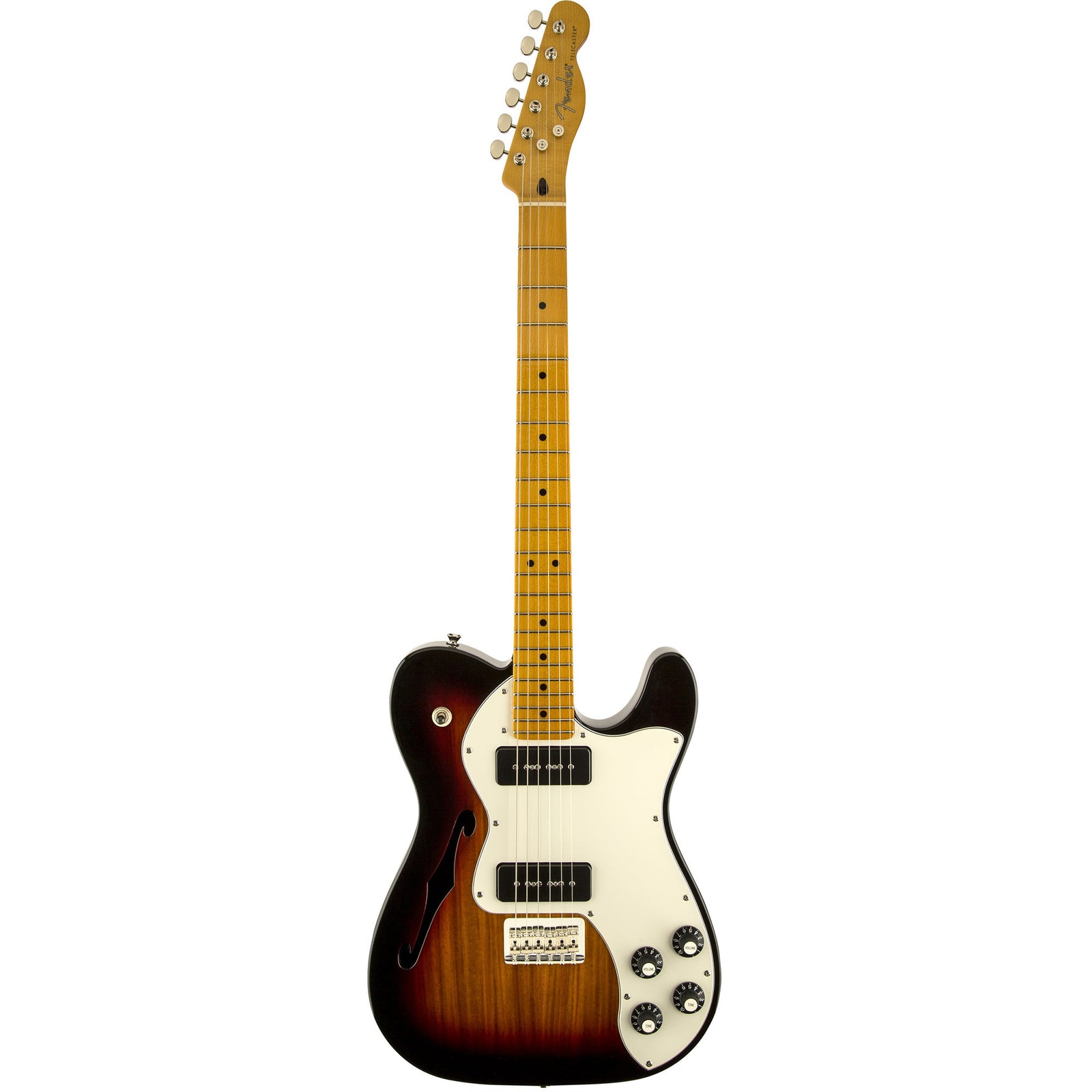 Fender Modern Player Telecaster Thinline Deluxe - Maple Fingerboard - 3-Color Sunburst