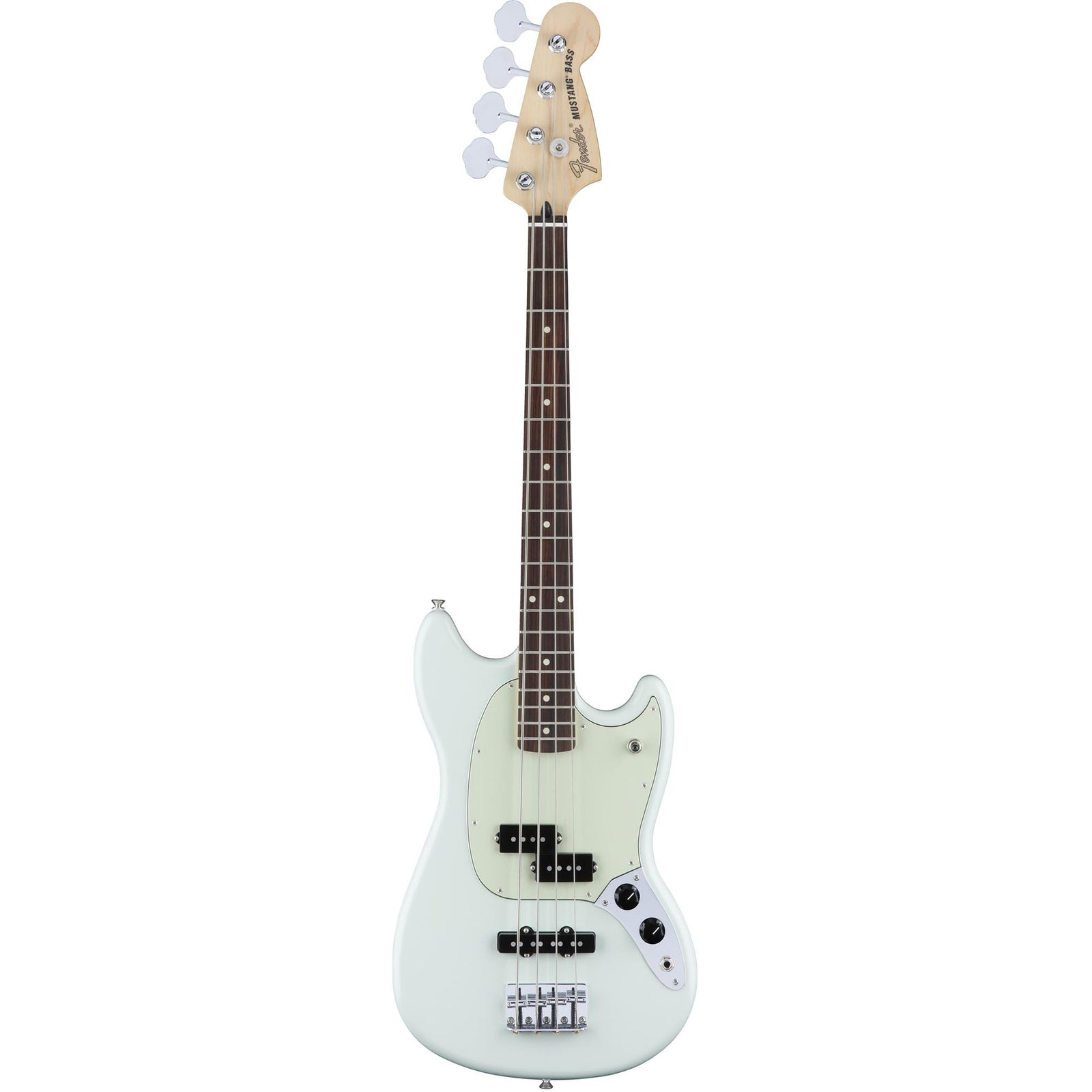fender mustang bass pj - rosewood - sonic blue – russo music