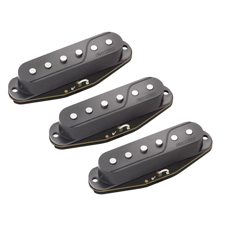 Fishman Fluence Single Width Pickups For Strat - Set Of 3 - Black