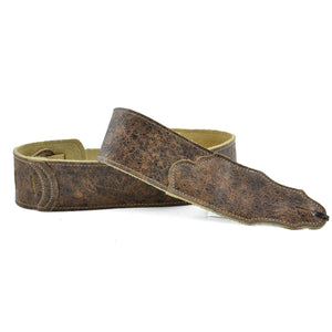 "Franklin Strap 2.5"" Original Distressed Leather Roadhouse Strap - Chocolate"