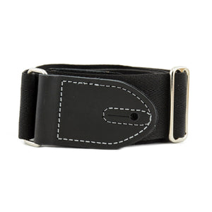 "Franklin Strap Hybrids 2"" Leather/Seatbelt Backing Black/Black (Silver Stitch)"