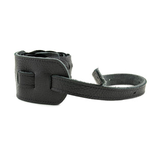 "Franklin Strap Link Glove Leather Straps - 3"" Garment Leather Links - Black"