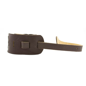 "Franklin Strap Link Glove Leather Straps - 3"" Garment Leather Links - Chocolate"