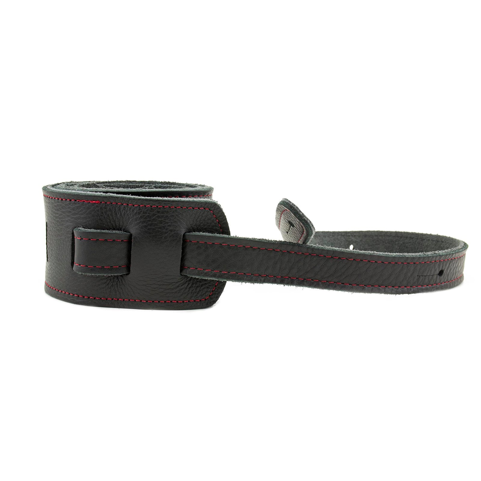 "Franklin Strap Original Black Glove Straps 2.5"" Red Stitching"