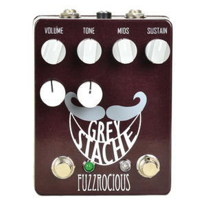 Fuzzrocious Grey Stache Fuzz Pedal With Octave Jawn Mod