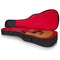 Gator Cases Transit Series Acoustic Guitar Gig Bag with Charcoal Exterior