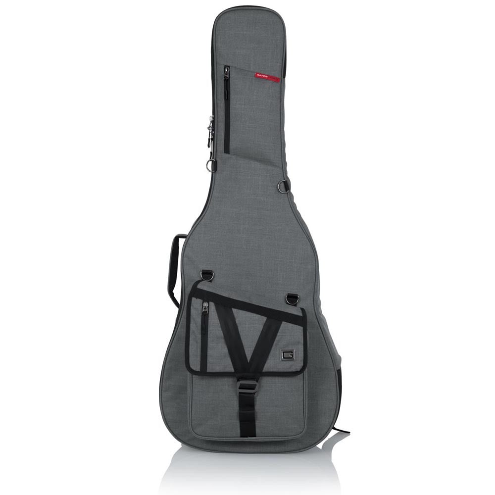 Gator Cases Transit Series Acoustic Guitar Gig Bag With Light Grey Exterior