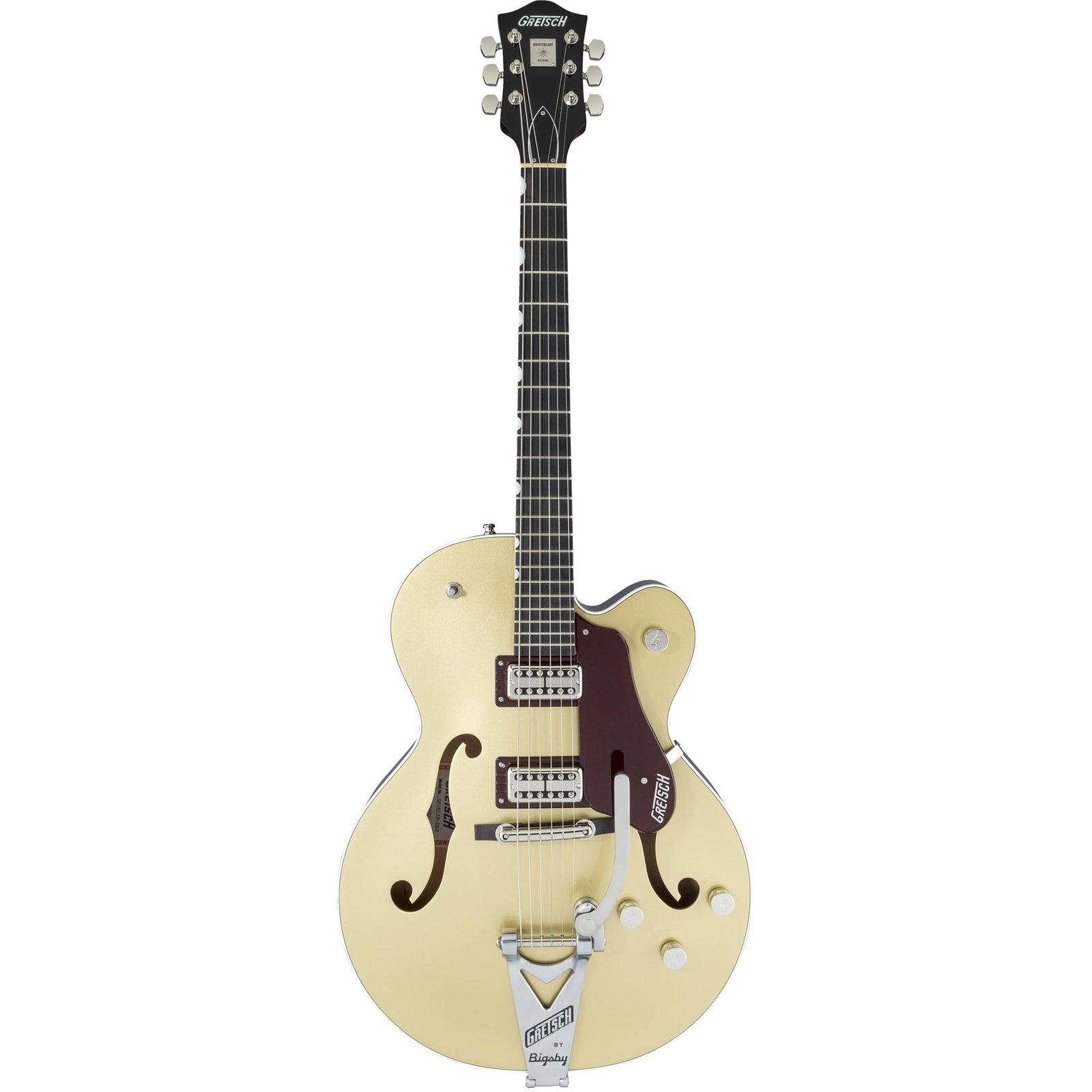 Gretsch G6118T-135 Limited 135th Anniversary With Bigsby - Ebony - 2 Tone Casino Gold/Dark Cherry Metallic