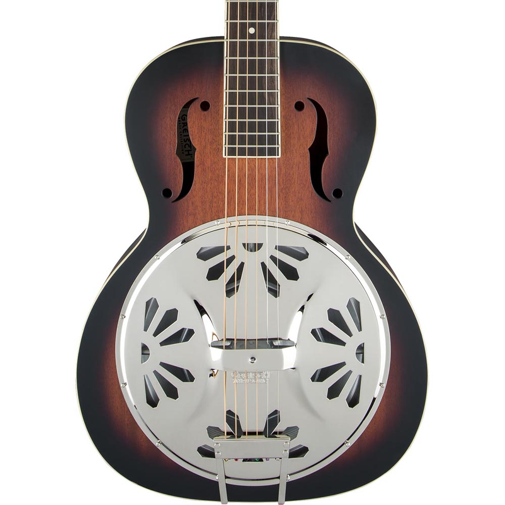 Gretsch G9220 Bobtail Round-Neck - Mahogany Body Spider Cone Resonator - 2-Color Sunburst