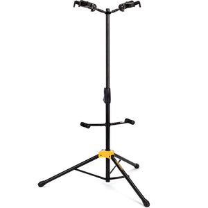 Hercules Auto Grip Double Guitar Stand W/ Foldable Backrest
