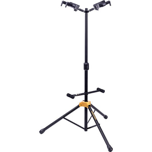 Hercules Plus Series Universal Autogrip Duo Guitar Stand With Foldable Backrest