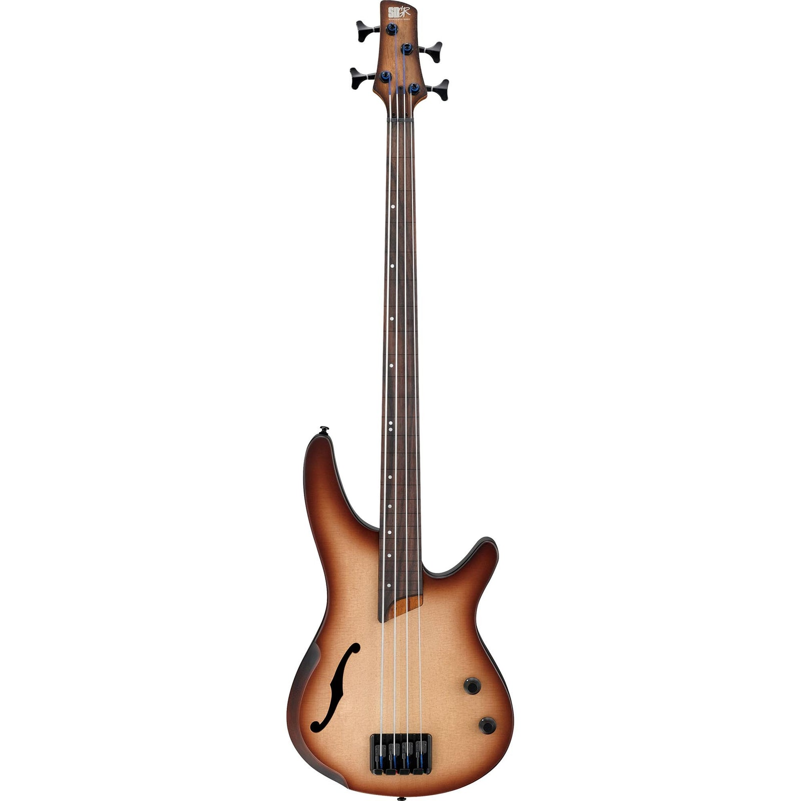 Ibanez Bass Workshop - Fretless Hollowbody - Natural Browned Burst