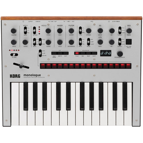 Korg Monophonic Analog Synthesizer With Presets - Silver