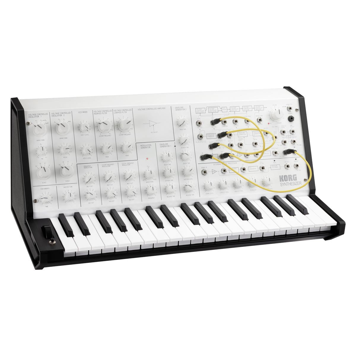Korg MS-20 Mini Analog Monophonic Synth - Limited White