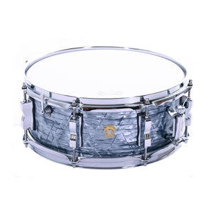 "Ludwig 5.5x14"" Legacy Mahogany Jazz Fest Snare Drum, Sky Blue Pearl"