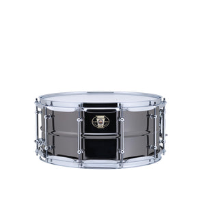"Ludwig 6.5x14"" Black Magic Snare With Chrome 2.3mm Hoops & Tube Lugs"