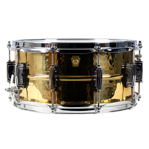 "Ludwig 6.5x14"" Bronze Phonic Snare - Hammered Shell - Imperial Lugs"