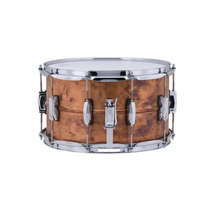 "Ludwig 8x14"" Copper Phonic Snare Drum Raw Patina Finish"