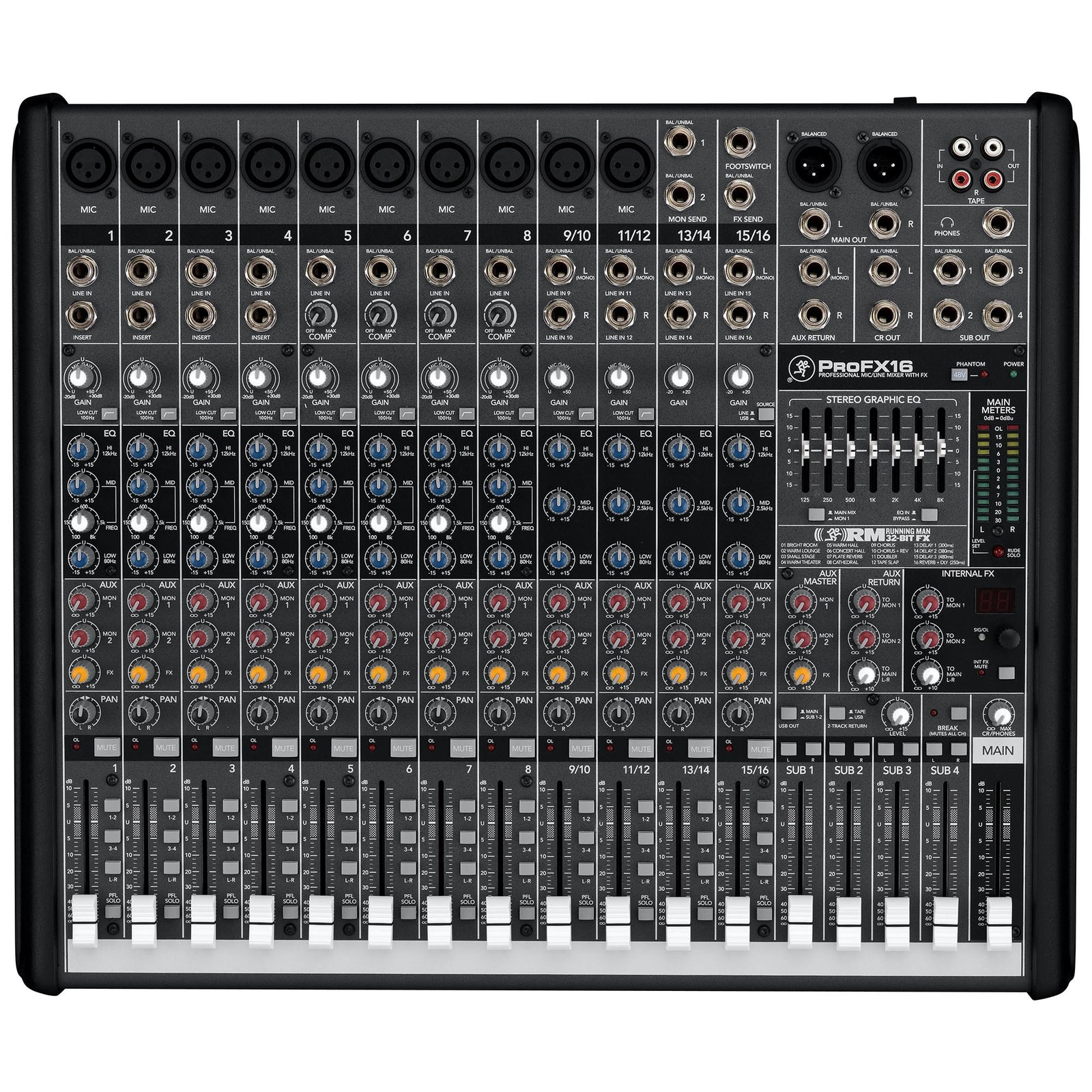 Mackie 16-Channel Pro Mixer With FX And USB