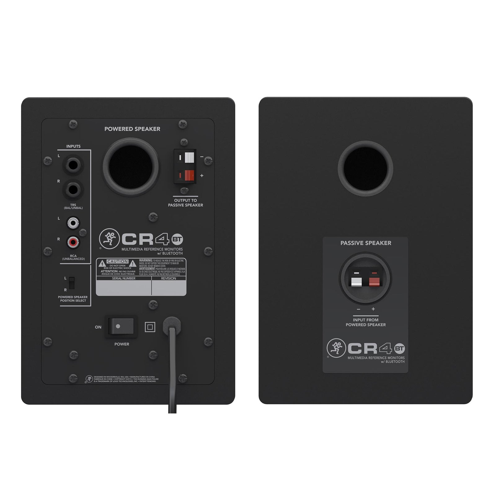 "Mackie 4"" Multimedia Monitor With Bluetooth CR4BT - Pair"