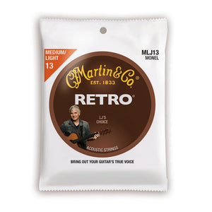 Martin Lj's Choice Retro Monel .013-.056 Medium/Light Acoustic Strings