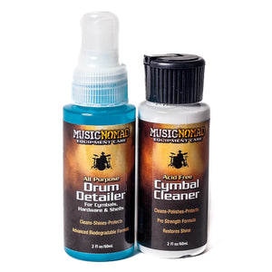Music Nomad Drum Detailer & Cymbal Cleaner Combo Pack - 2 Oz