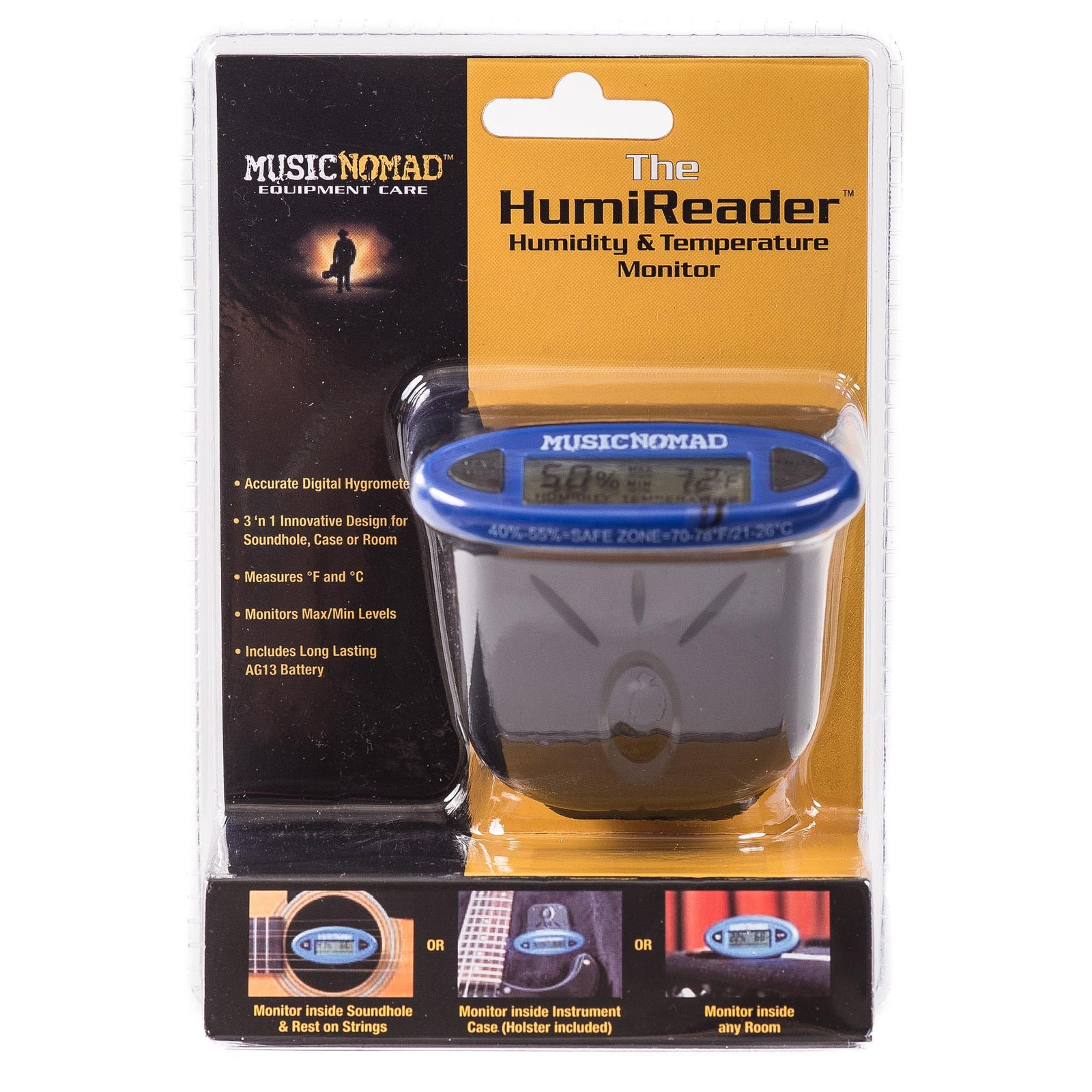Music Nomad The Humireader - Humidity & Temperature Monitor - 3 In 1