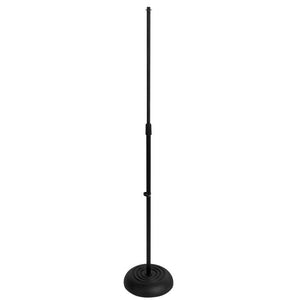 On Stage Round Base Mic Stand Straight