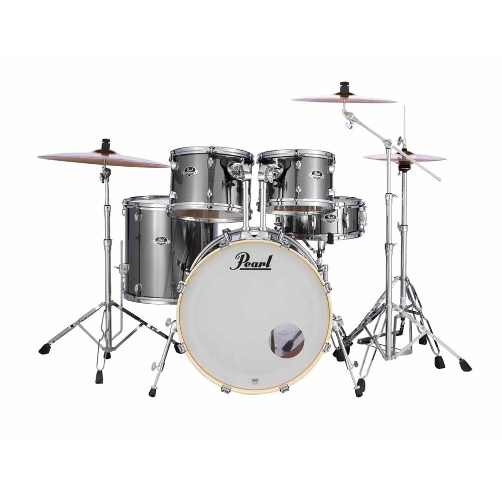 Pearl 5 Piece EXX Export Shell Pack - With Hardware - Smokey Chrome - Image: 1