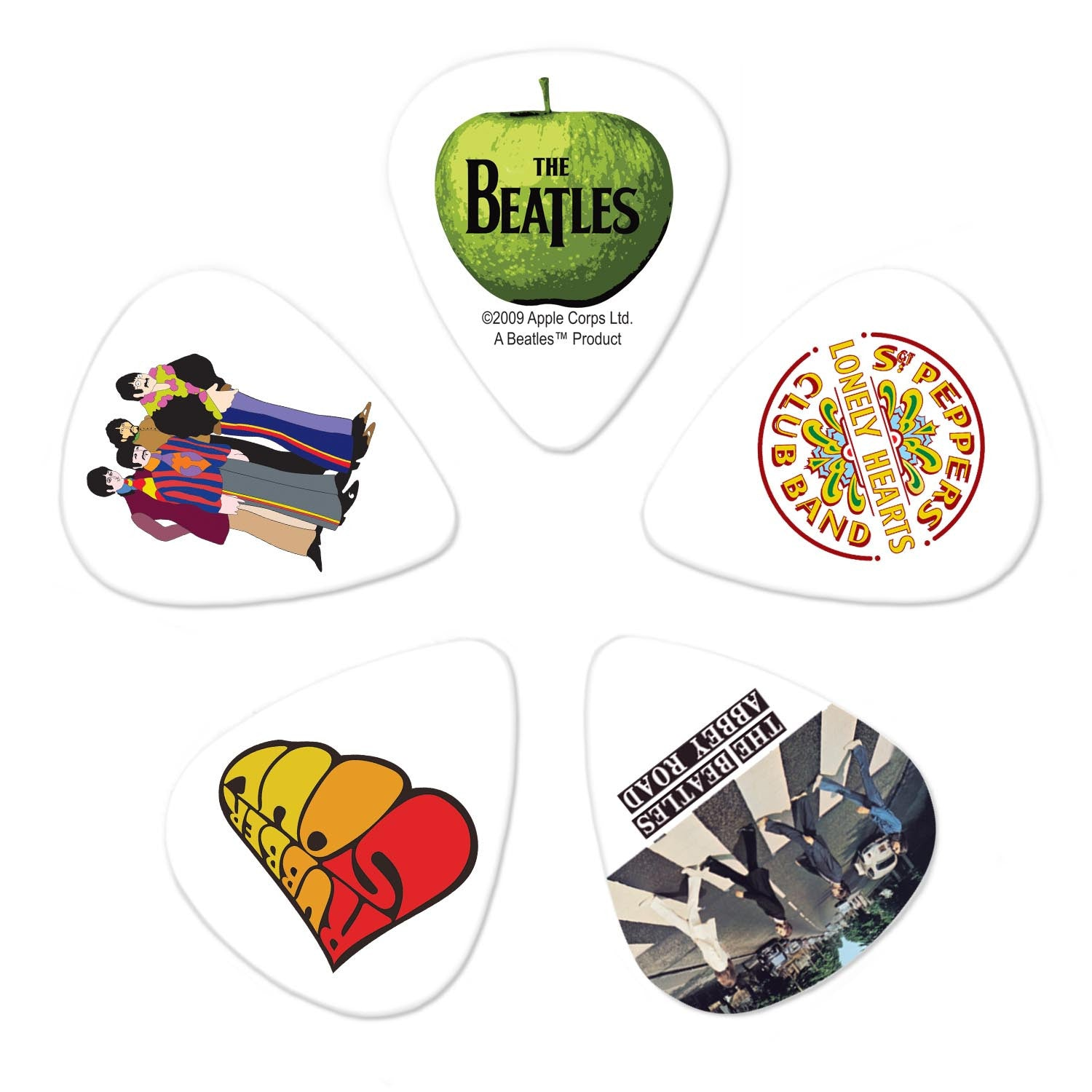 Planet Waves Beatles Guitar Picks - Albums - 10 Pack Thin