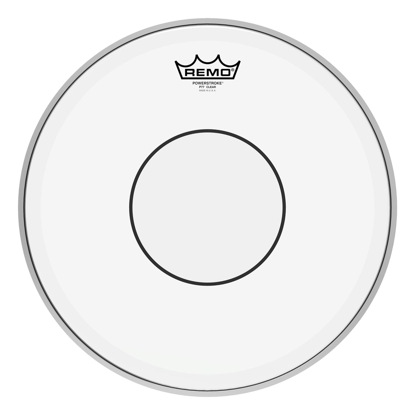 "Remo 14"" Powerstroke 77 Clear Dot Drumhead - Top Clear Dot"