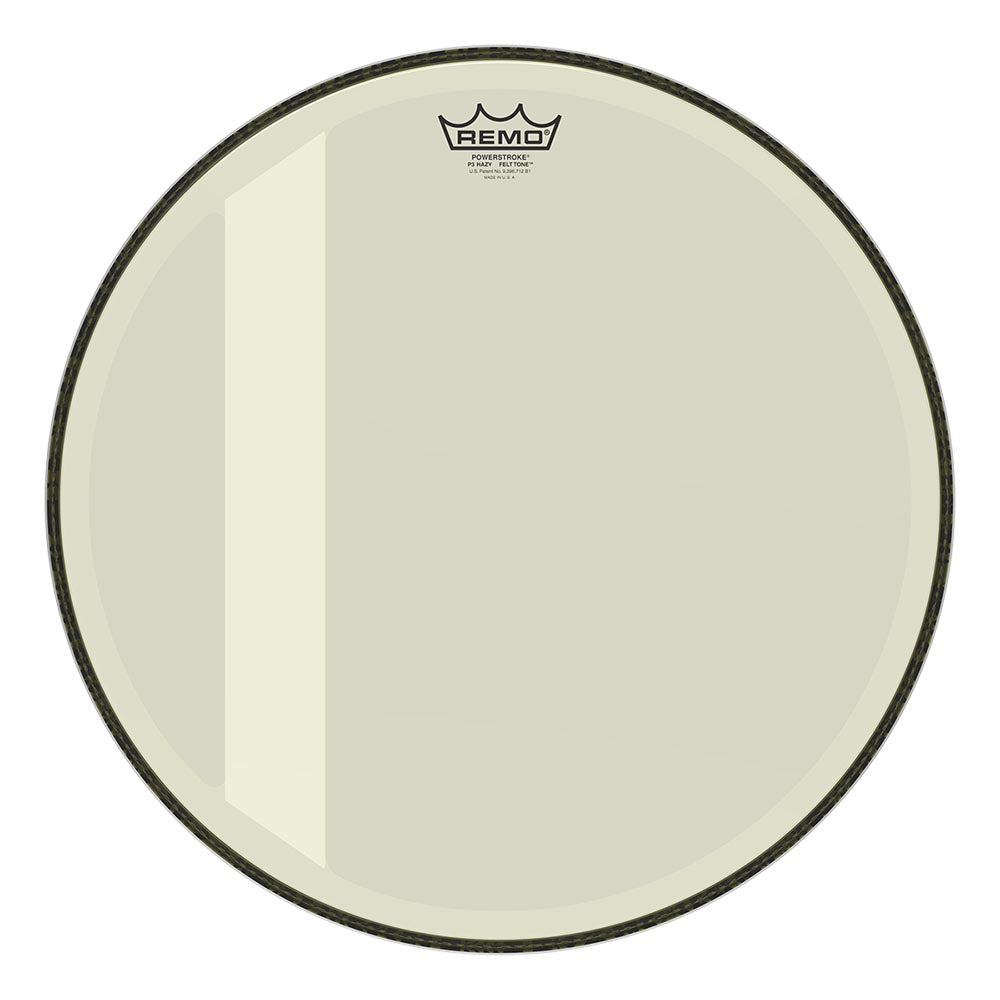 "Remo 18"" Powerstroke 3 Felt Tone Bass Drum Head - Hazy"