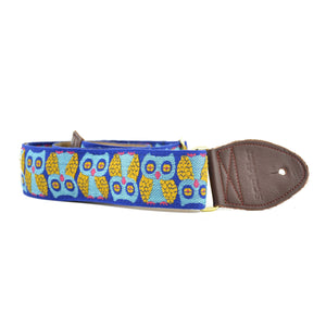 "Souldier 2"" Owls Guitar Strap - Blue"