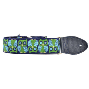"Souldier 2"" Owls Guitar Strap - Navy"