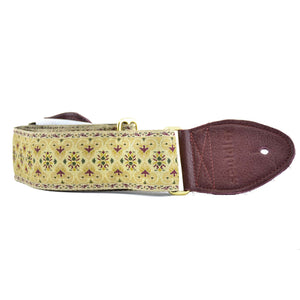 Souldier Persian Guitar Strap - Gold/Brown
