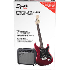 Squier Affinity Series Stratocaster HSS Pack 15G - Candy Apple Red 120V
