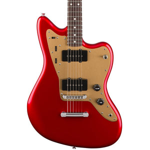Squier Deluxe Jazzmaster - Rosewood - Candy Apple Red