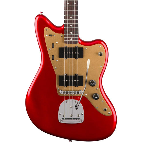 Squier Deluxe Jazzmaster with Tremolo - Rosewood - Candy Apple Red