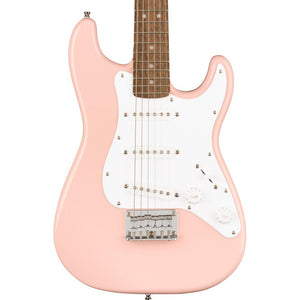 Squier Mini Stratocaster Laurel, White Pickguard Shell Pink