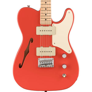 Squier Paranormal Cabronita Telecaster Thinline Maple, Parchment Pickguard, Fiesta Red